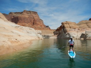 Paddling on Lake Powell
