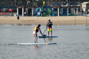 SUP Instructor with REI, Michael Kelley, Marina del Rey, Mother's Beach, Teaching, SUP Classes, SUP Training, Beginner Paddlers, REI