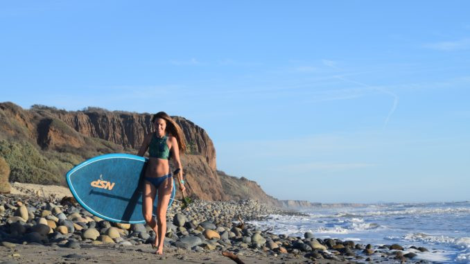 Swimwear, Sustainable, Carve Designs, Rebecca Parsons, PaddleXaminer, San Onofre State Beach, Standup Paddling, NSP, DC Surf Wide, Cocomat Construction
