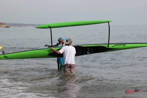Kamanu Composites, Pueo X, pueo, outrigger canoe, OnIt Pro, SUP Examiner, Cali Paddler