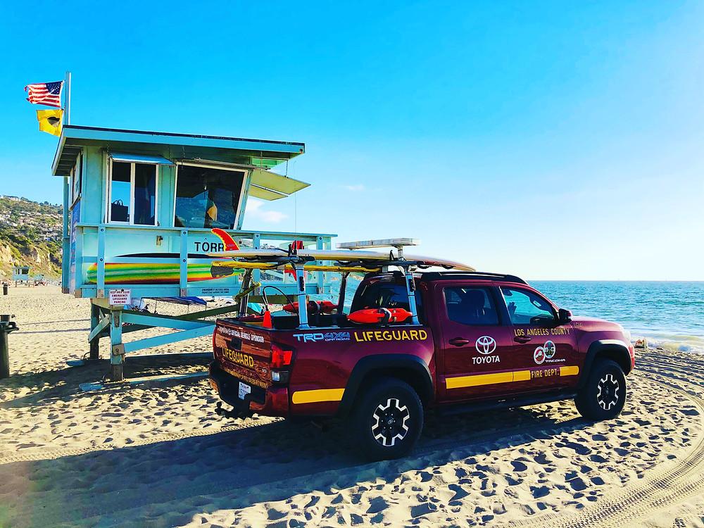 Los Angeles, Lifeguard, lifeguard truck, toyota, paddlexaminer, lifeguard tower, california