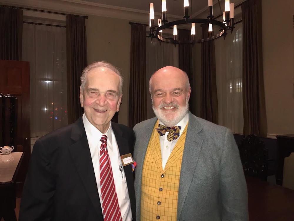 Joe Jordan with Dr. Michael Brescia at a Legatus meeting.