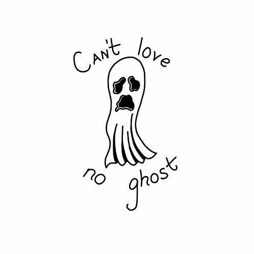 Can't Love No Ghost Black Shirt