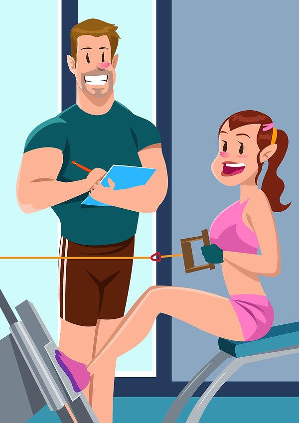Занятия с фитнес тренером