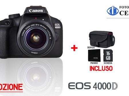 Canon EOS 4000D, Tutto pronto per scattare!