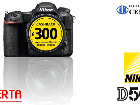 Nikon D500 + 16-80 VR in OFFERTA!
