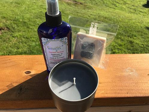 Ganesha Kit: spritzer, candle & soap