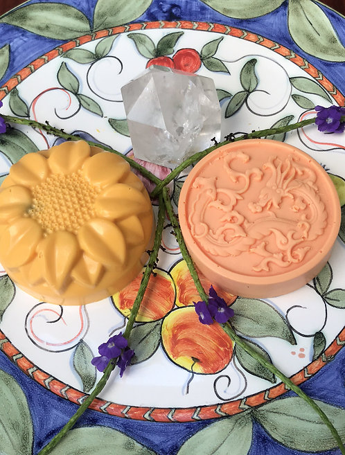 Goddess (yellow) & Freya (orange) soap