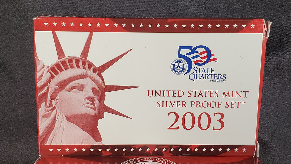 United States Mint Silver Proof Sets (2) 2003-s