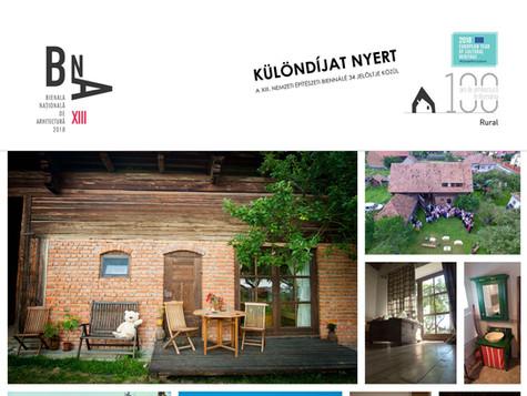 XIII. nemzeti építészeti tervszemle díja, 2018