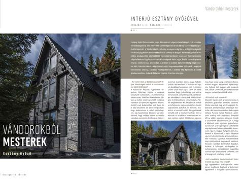 Építőművészeti publikáció az Országépítő folyóíratban