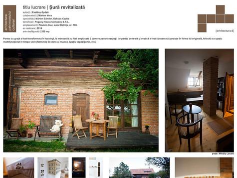 Arhitectura.6 - román építészeti tervszemle díja, 2016