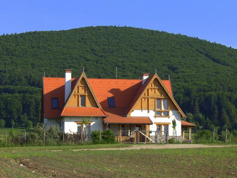 Építőművészeti publikáció az orszagepito.net internetes magazinban, családi ház és vendégház