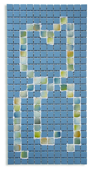 Oil and Grout on Ceramic Tile, 2021