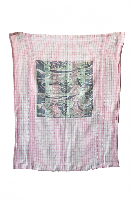 Three Layer Woodblock Print on Bar Rag, 2019