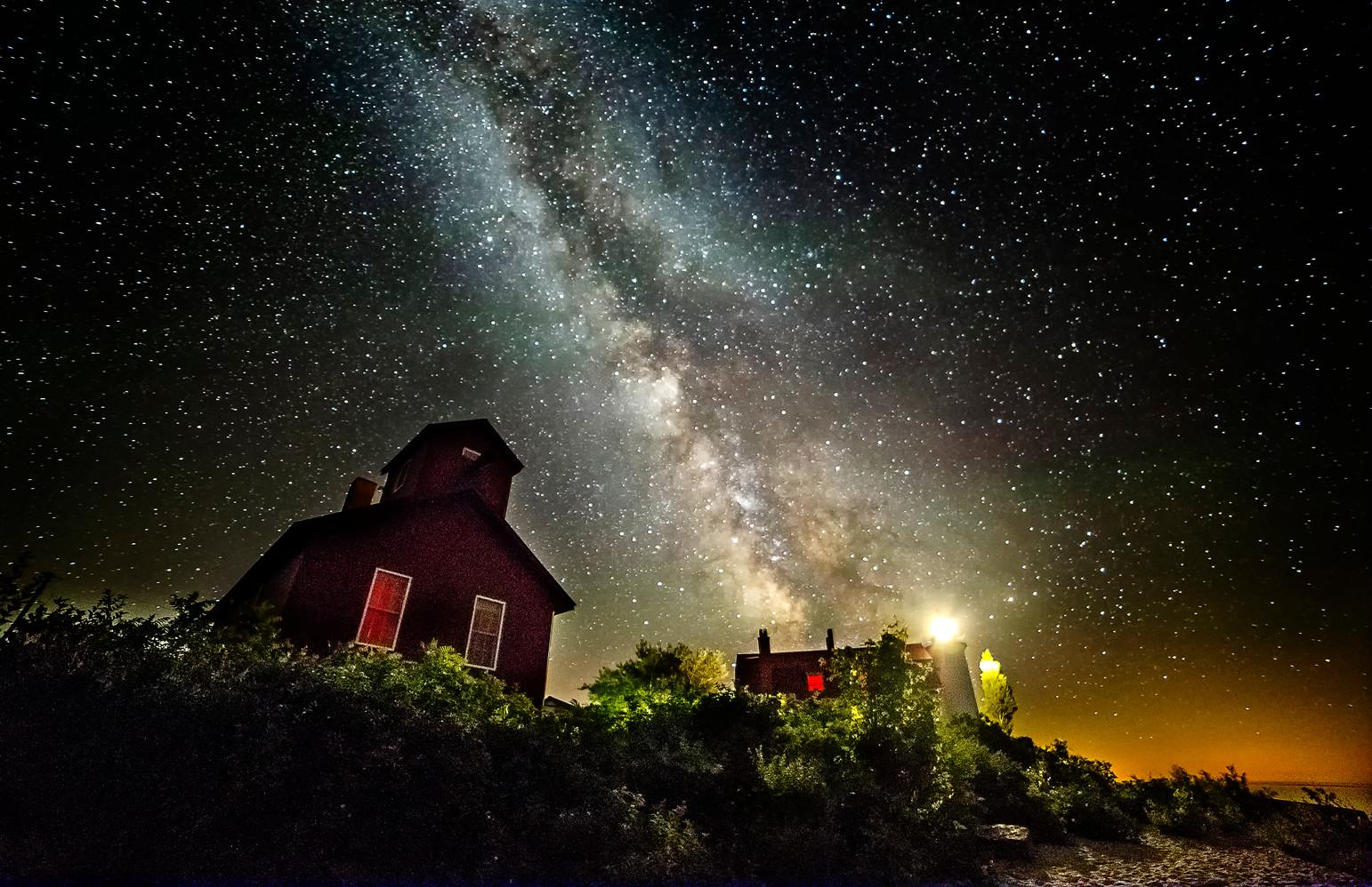 Point Betsie Milky Way Lighthouse