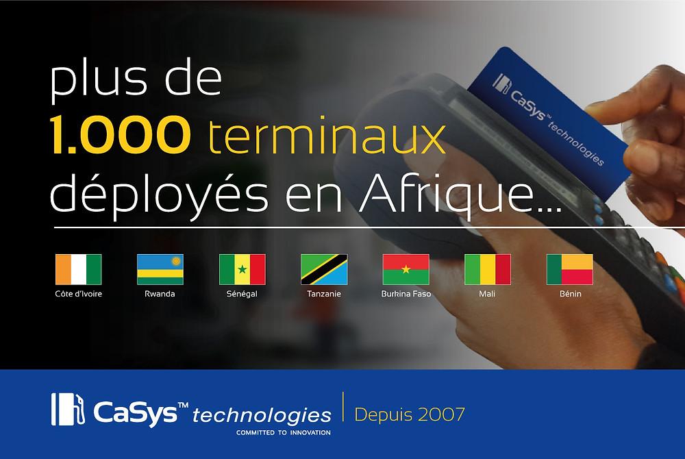 plus de 1000 terminaux déployés en Afrique