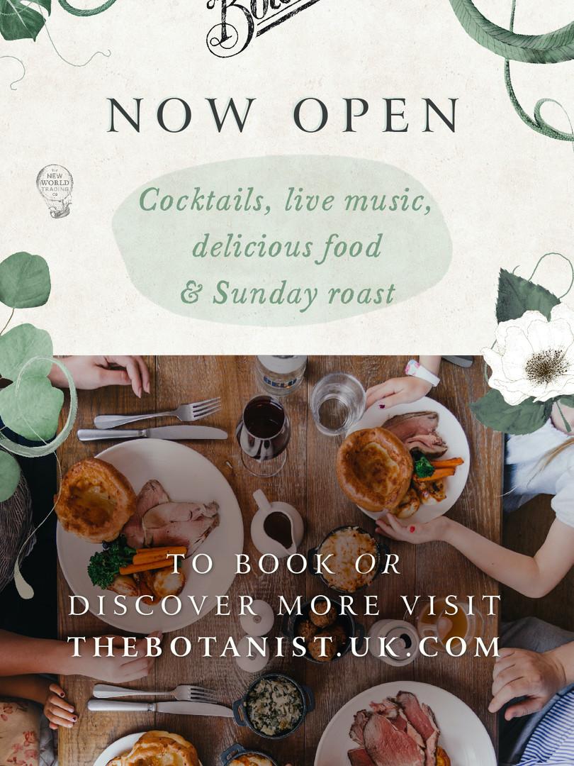 The Botanist Cardiff Now Open Advert.jpg