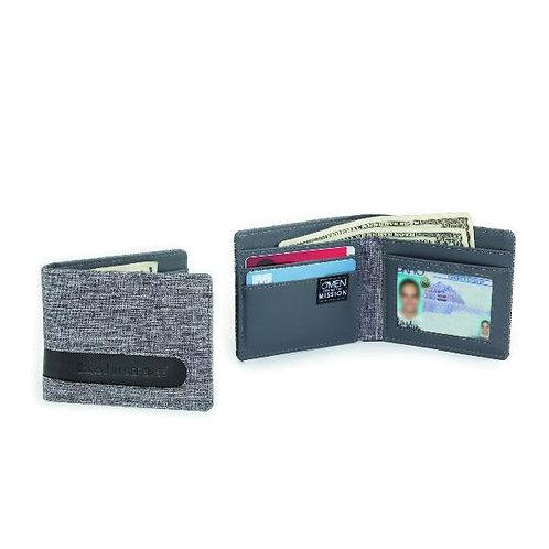 Billy Fold Linen RFID Wallet