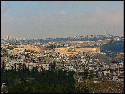 Вид на Иерусалим с юга