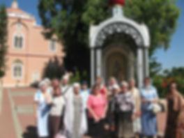 Священник Павел Крысанов и паломники в Яффо