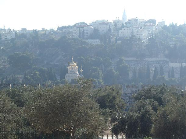 Вид на Монастырь Марии Магдалины с Храмовой Горы