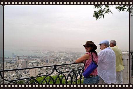 Мои туристы в Хайфе
