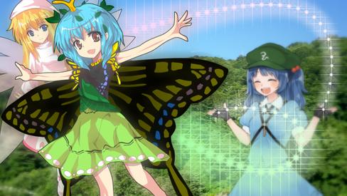 青空を舞う蝶と 妖精