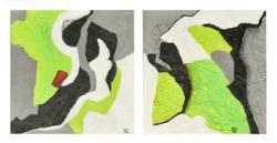 Green & Gray Diptych
