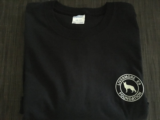 Men's Black Circle Logo Crew Neck T-Shirt