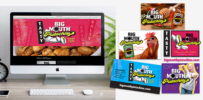 Big Mouth Pistachios complete brand analysis and design package