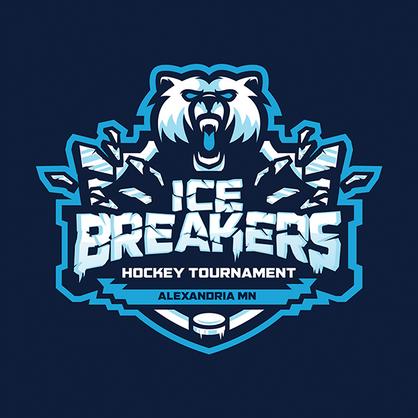 Ice Breakers Hockey Tournament Alexandria MN branding and logo design