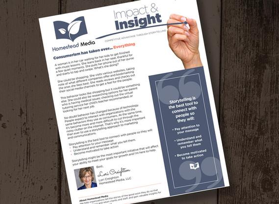 Homestead Media newsletter design