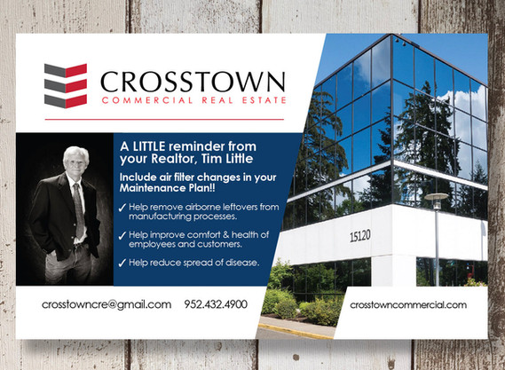 Crosstown Commercial Real Estate monthly postcard design