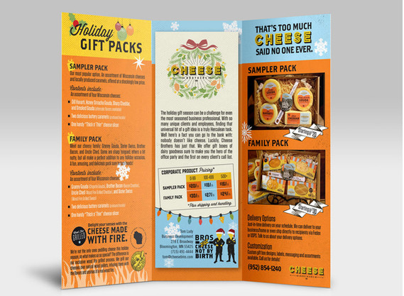 Cheese Brother's tri fold brochure design