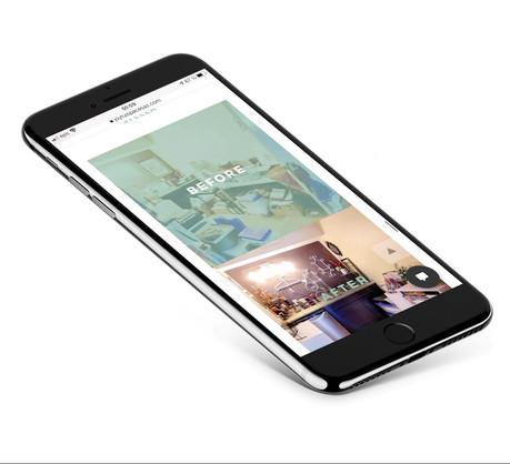 Joyful Spaces AZ mobile responsive website design