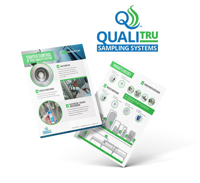QualiTru Sampling Systems product brochure design