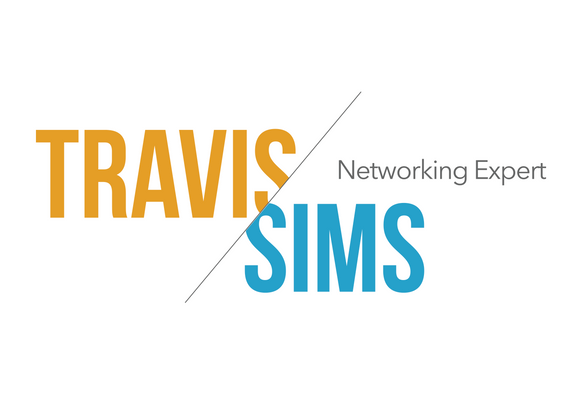 Travis SIMS Networking Expert logo design