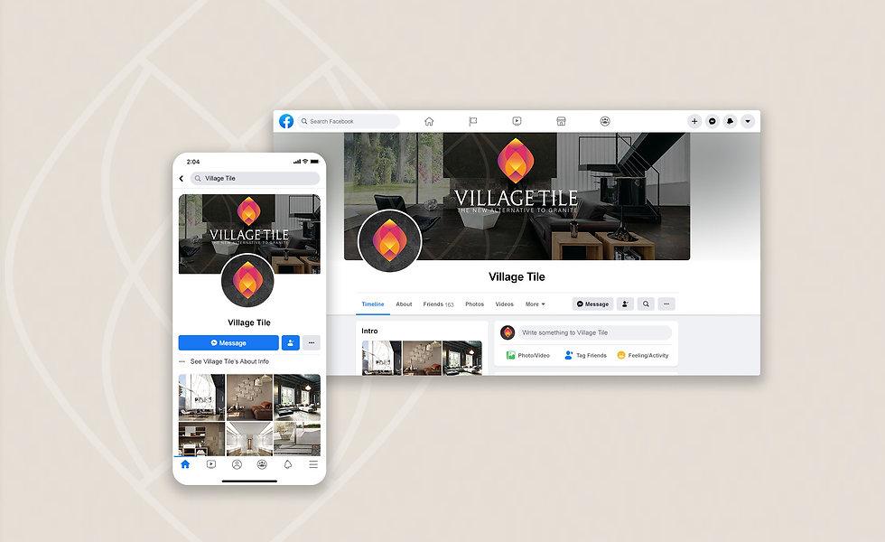 Village Tile social media Facebook banner design