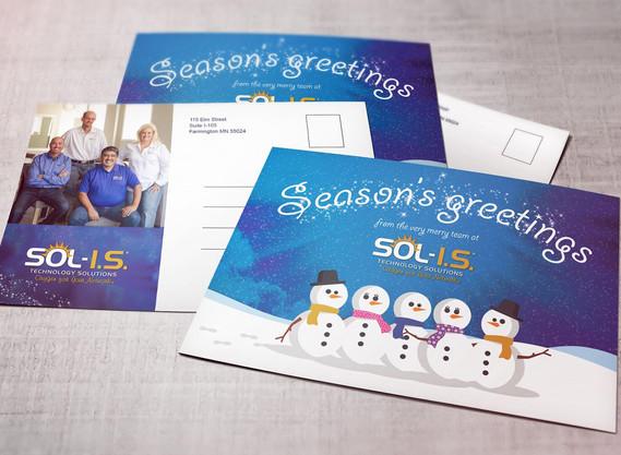 SOLIS Christmas postcard designs