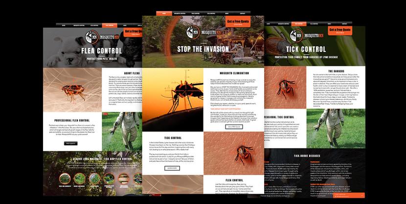 Mosquito MN Pest Control website design mockup