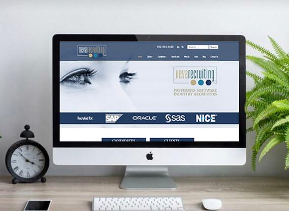 Neva Recruiting website design