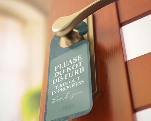 Do not disturb door hanger leaflet design layout