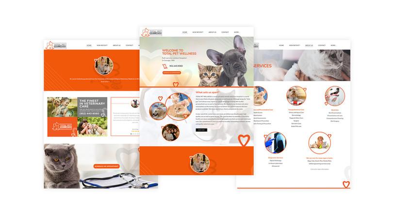 Total Pet Wellness mobile responsive website design PSD mockup