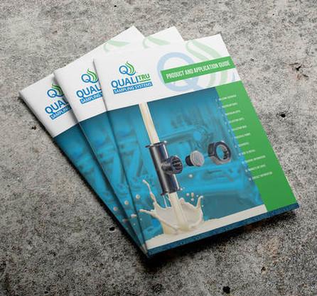 QualiTru Sampling Systems softcover portrait brochure design