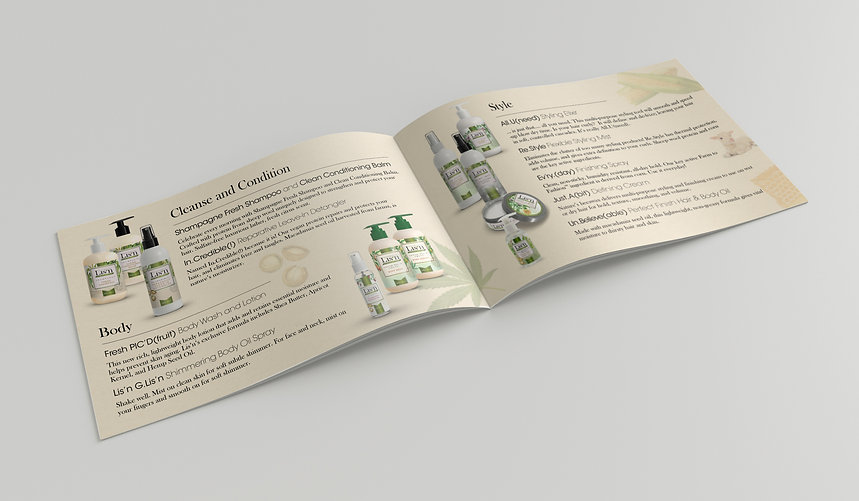 Lisn Farm to Fashion product brochure design