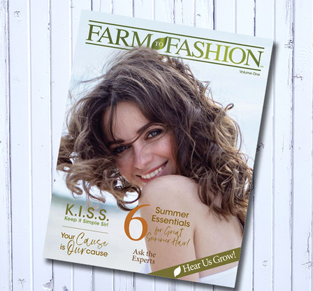 Lisn Farm to Fashion magazine cover design