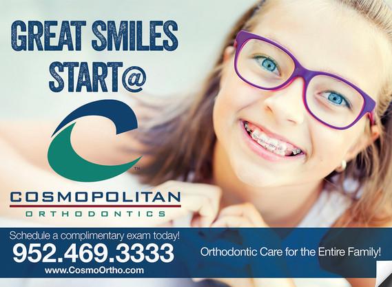 Great Smiles postcard design mockup