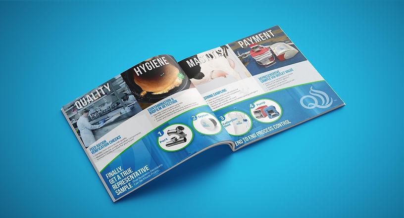 QualiTru Sampling Systems catalog graphic design
