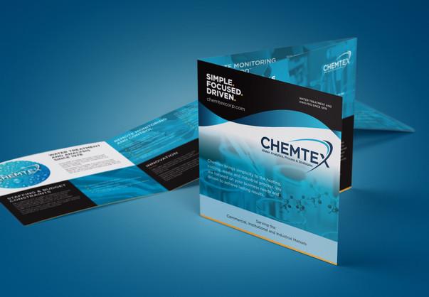 Chemtex brochure design mockup